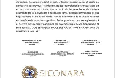 DNU PRESIDENCIAL: CESE DE ACTIVIDADES SECTOR ARENA LITORAL