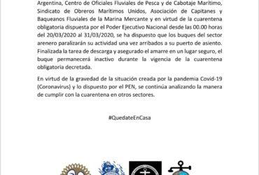 DNU PRESIDENCIAL: CESE DE ACTIVIDADES SECTOR ARENA Y PIEDRA