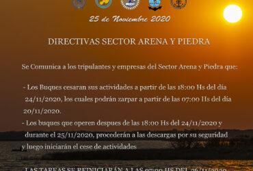 DIRECTIVAS DÍA DEL MARINO MERCANTE ARENA Y PIEDRA