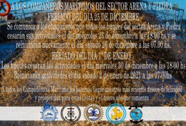 Directivas para las fiestas Sector Arena y Piedra Buenos Aires