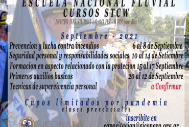 SEPTIEMBRE : CURSOS STCW EN LA ESCUELA NACIONAL FLUVIAL