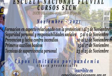 Noviembre : Cursos STCW en la Escuela Nacional Fluvial